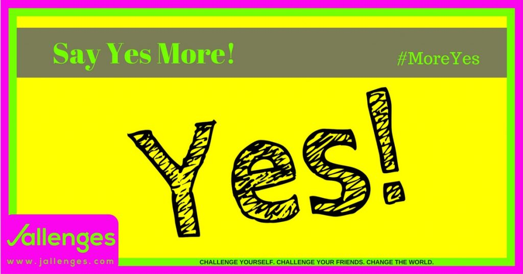 Say Yes More Featured Jallenges Image